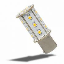 LED BA15d Leuchtmittel, 10-30V/DC, 18SMD, 2,4 Watt, kaltweiss