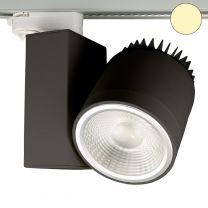 3-PH Schienen-Strahler fokussierbar, 30W, 30°-50°, schwarz matt,