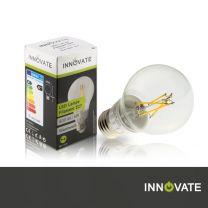 LED Lampe Filament E27, Birne, 6W, 600 Lumen, 2800K warmweiß