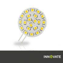 10er Set G4 LED 21SMD, 3W, 120°, warmweiss, Pin seitlich