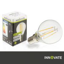 E14 LED G45, 4 W, 450 lm, warmweiß