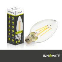 5er Set - E14 LED Kerze - dimmbar - 4 Watt, klar, warmweiß