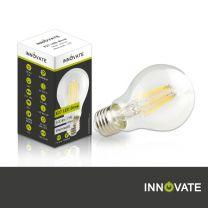 E27 LED Birne, 7 Watt, klar, warmweiß, dimmbar