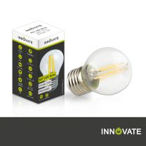 E27 LED Birne G45, 4 Watt, 400lm, warmweiß, dimmbar