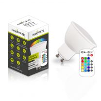 LED GU10 RGB-Warmweiss LED Lampe, inklusive Fernbedienung
