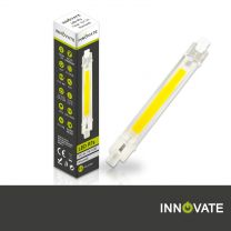 5er SET R7S LED Stab 7 Watt, COB warmweiß, 118mm