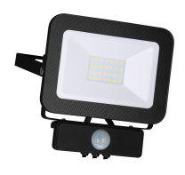 LED Fluter Strahler 20W mit Bewegungsssensor/Helligkeitssensor, neutralweiß, schwarz, IP65