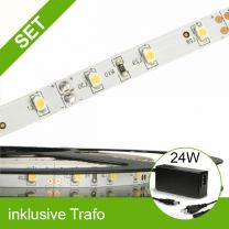 SET LED STD Flexband neutralweiss + 24W Trafo