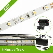 SET LED STD Flexband neutralweiss + 24W Trafo + Controller