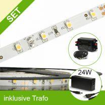 SET LED STD Flexband warmweiss + 24W Trafo + Controller