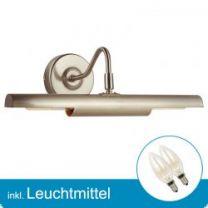 LED Wandleuchte PICTURE nickel matt mit Leuchtmittel E14- 2 Watt- warmweiss