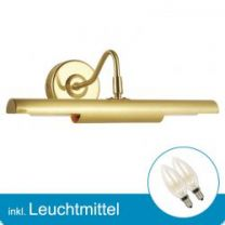 LED Wandleuchte PICTURE messing matt mit Leuchtmittel E14- 2 Watt- warmweiss