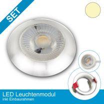 Einbaustrahler-Ultraslim Alu schwarz mit LED-Modul 3 Stufen Dimmbar ohne Dimmer