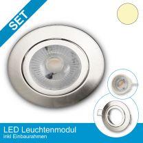 Einbaustrahler-Ultraslim Alu Nickel-Satin mit LED-Modul 3 Stufen Dimmbar ohne Dimmer