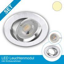 Einbaustrahler-Ultraslim alu schwenkbar mit LED-Modul 3 Stufen Dimmbar ohne Dimmer