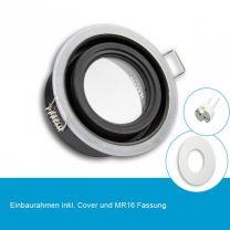 LED Einbaustrahler IP65 für MR16 Leuchtmittel inkl. Cover rund, weiss