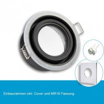 LED Einbaustrahler IP65 für MR16 Leuchtmittel inkl. Cover eckig, chrom